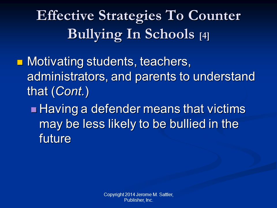 Effective Strategies To Counter Bullying In Schools [4]